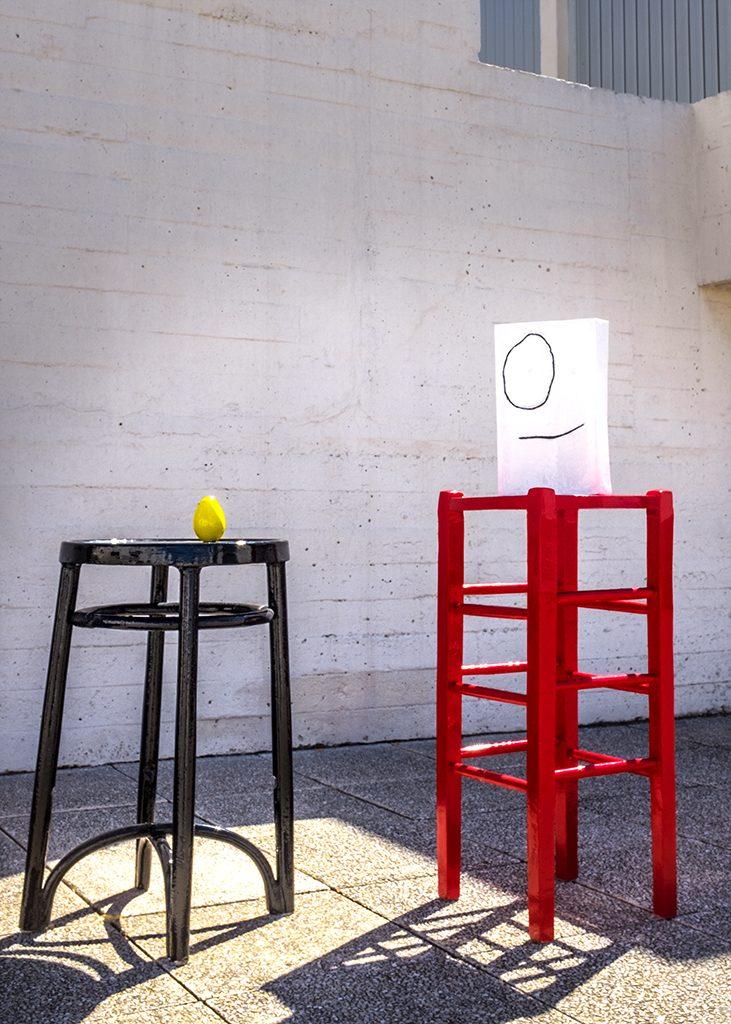 Black Stool, Red Stool Miro Foundation Barcelona