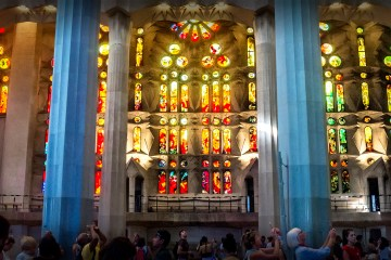 Stained Glass window Sagrada Familia Barcelona Gaudi