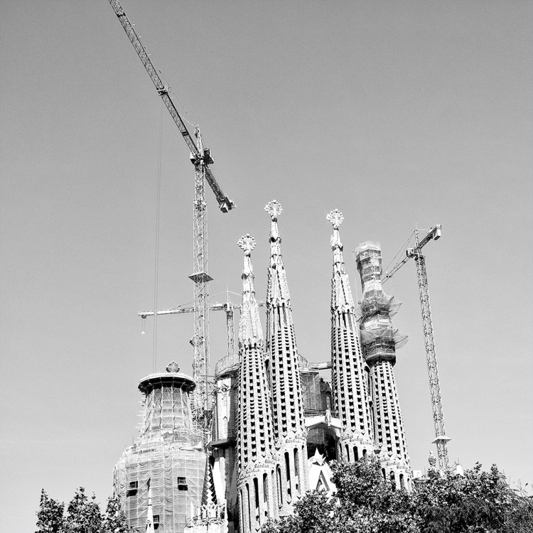 Construction Sagrada Familia Gaudi Barcelona