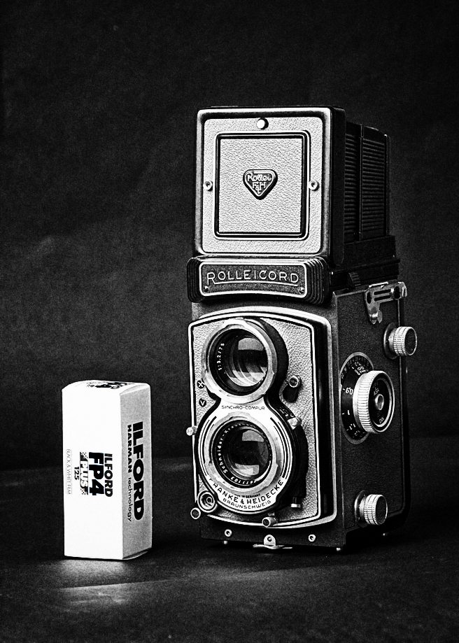 RolleiCord camera monochrome black&white