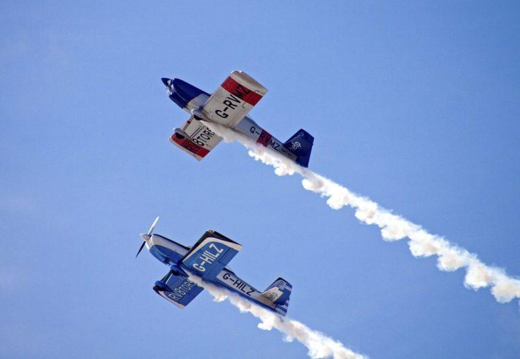 Blackpool air show flying machines aeroplanes