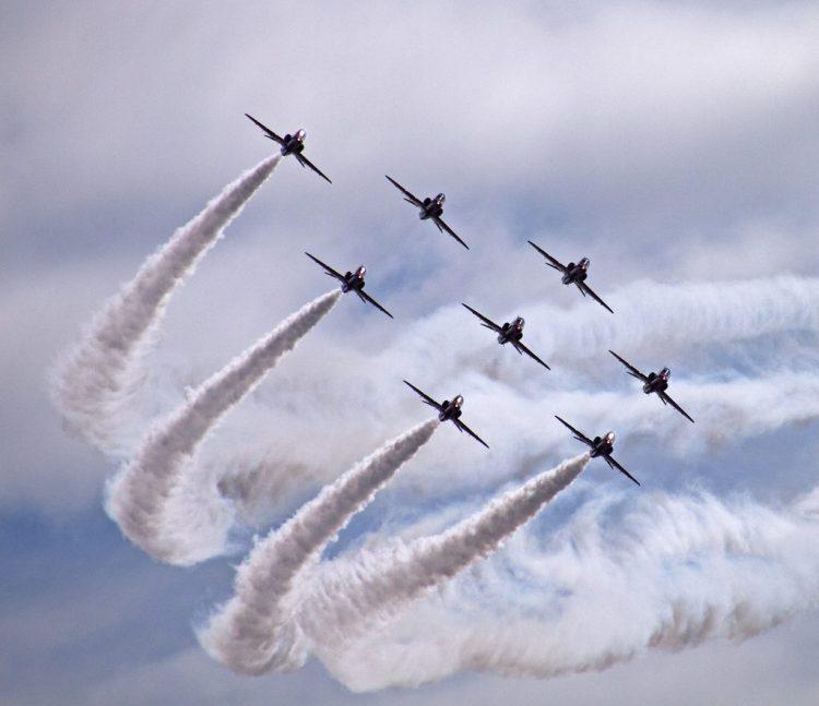 Red Arrows Blackpool airshow aeroplanes