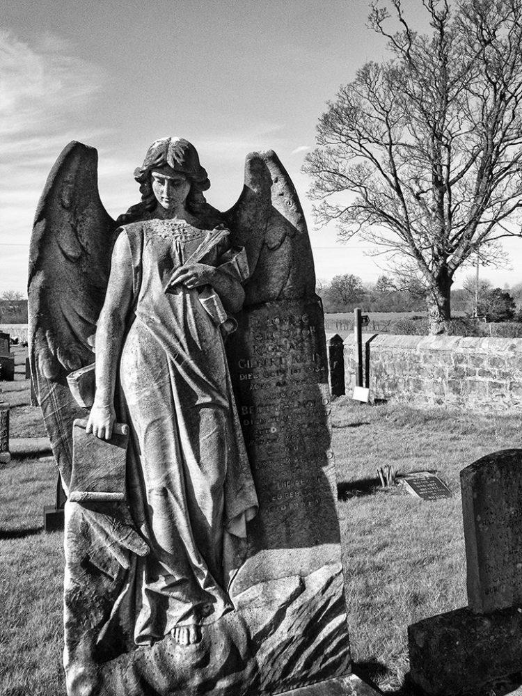 Angel churchyard gravestone