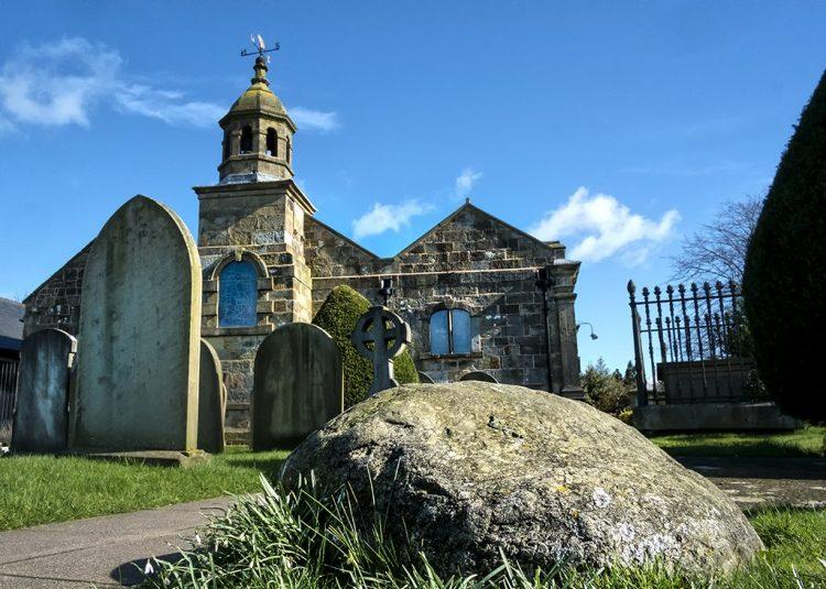 Meg's Shelton's Boulder witch Fylde Hag Woodplumpton Lancashire village churchyard