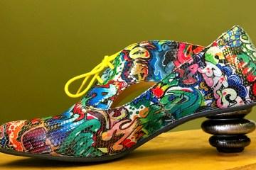 Yellow Laces designer shoes multicoloured