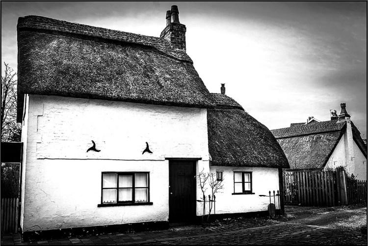 Thatched Cottage England quaint Churchtown village