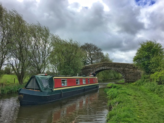 Narrowboat Woodplumpton, catforth, Lancaster Canal Lancashire rural