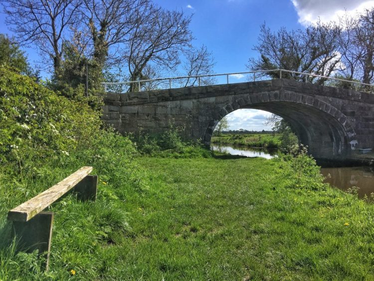 Bridge no.30 Lancaster Canal seat towpath
