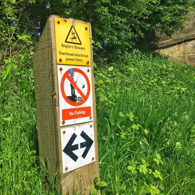 Anglers Beware signpost