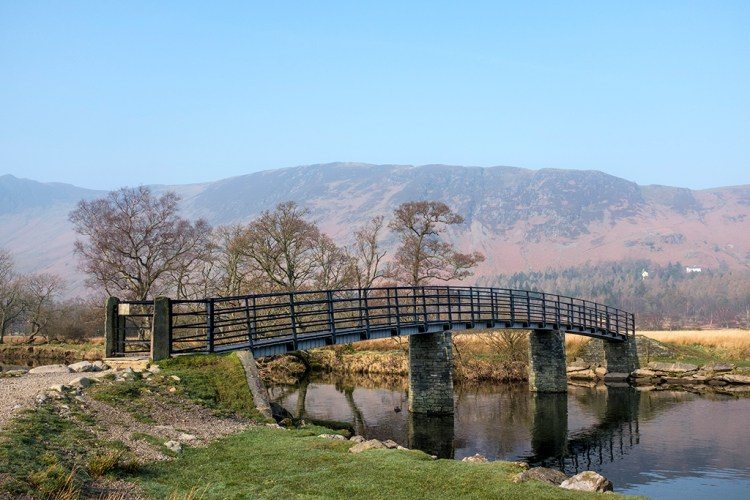 Manesty Japanese Bridge Borrowdale, Derwentwater, Cumbria Lake District, walk