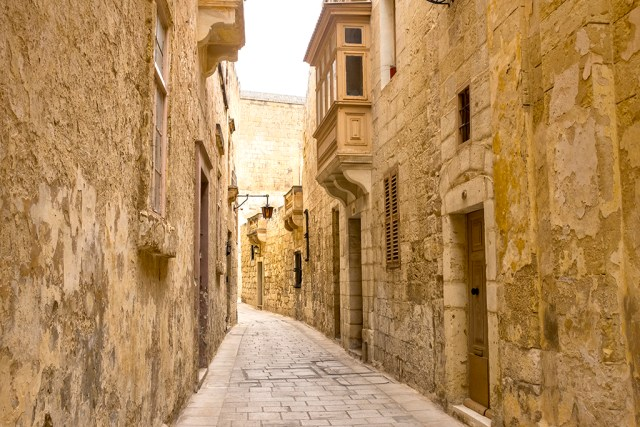 Mdina: Brown Doors Silent City malta