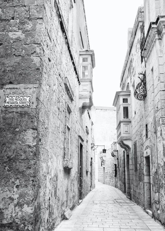 Mesquita Street Mdina Malta Silent City monochrome Black&white challenge