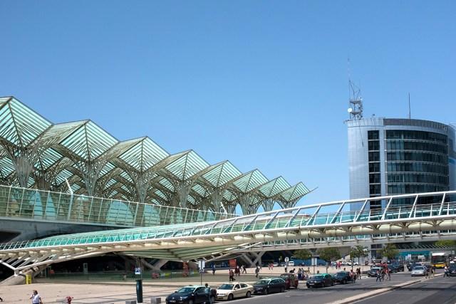 Lisbon's Oriente Station transport modern architecture