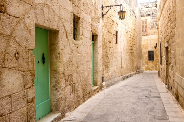 Mdina: Green Doors Silent city malta