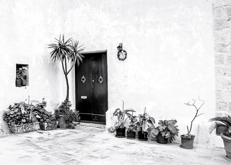 A Corner of the Piazza in Mdina Malta Silent City monochrome Black&white Challenge