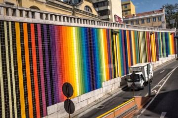 LISBON: Tiled Underpass road transport traffic architecture