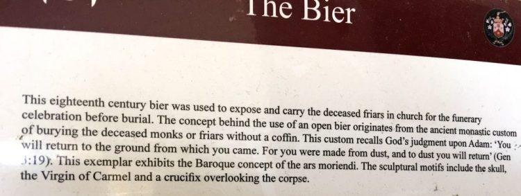 OddBall Mdina, Malta,Carmelite Priory: The Bier