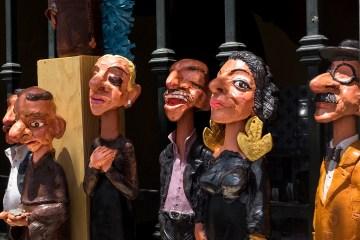LISBON: OddBalls on a Window Ledge puppets papier maché figures dolls oddball