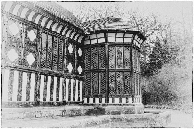 RUFFORD: Great Hall, Lancashire, 1530, 16th century, timber tudor medieval monochrome Black&White Challenge