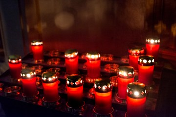 Mdina Malta Hopes and Prayers red church candles