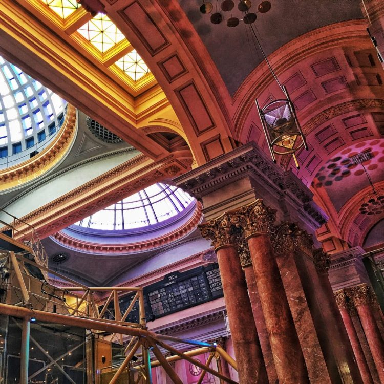 MANCHESTER: Royal Exchange Theatre snapped iphoneography ceiling roof