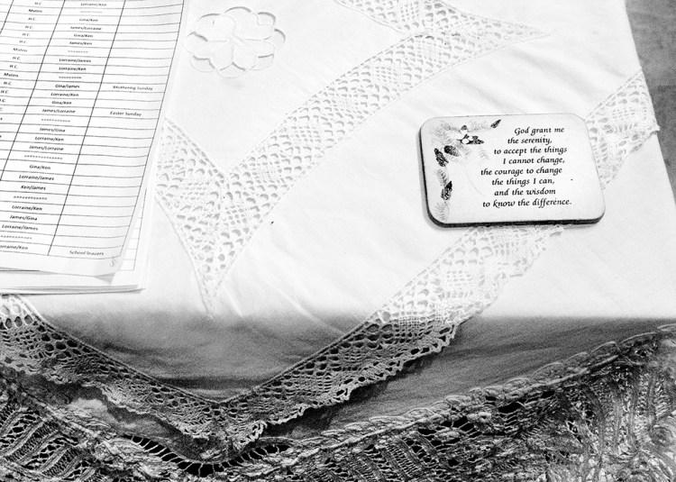 small things Cee's B&W Challenge monochromeWOODPLUMPTON CHURCH: Lace Tablecloth