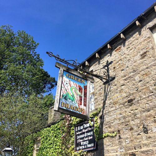 HARDRAW FORCE: Green Dragon Inn yorkshire Dales smile on saturday