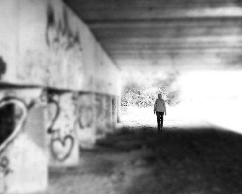 Alone and Palely Loitering, monochrome