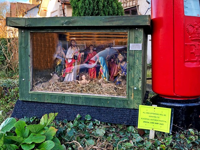 VILLAGE LIFE: The Crib , nativity, Christmas
