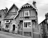 HOUSES, Monochrome,Knaresborough,