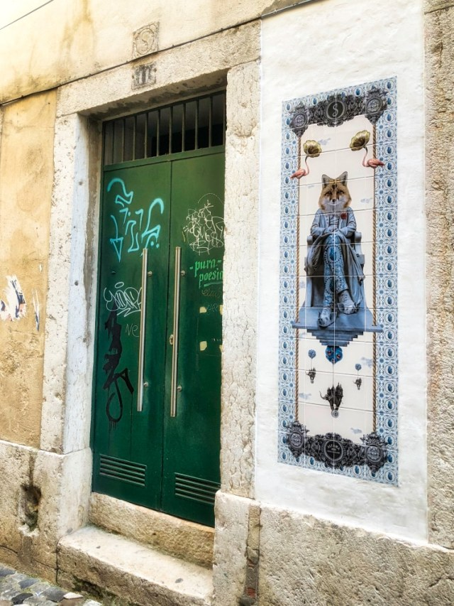 Lisbon door tiles fox piglet shoes