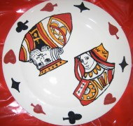 Playing cards plate