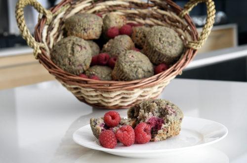 Muffin au son d'avoine et framboises
