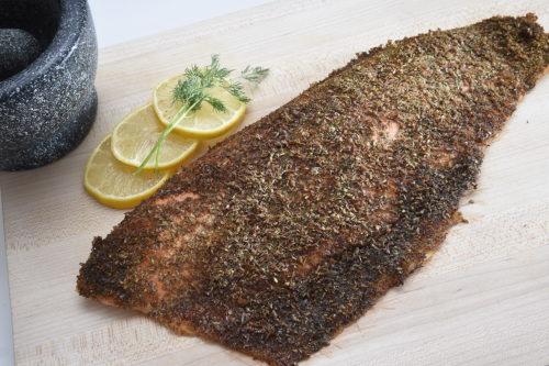 Truite saumonée aux graines de lin épicée