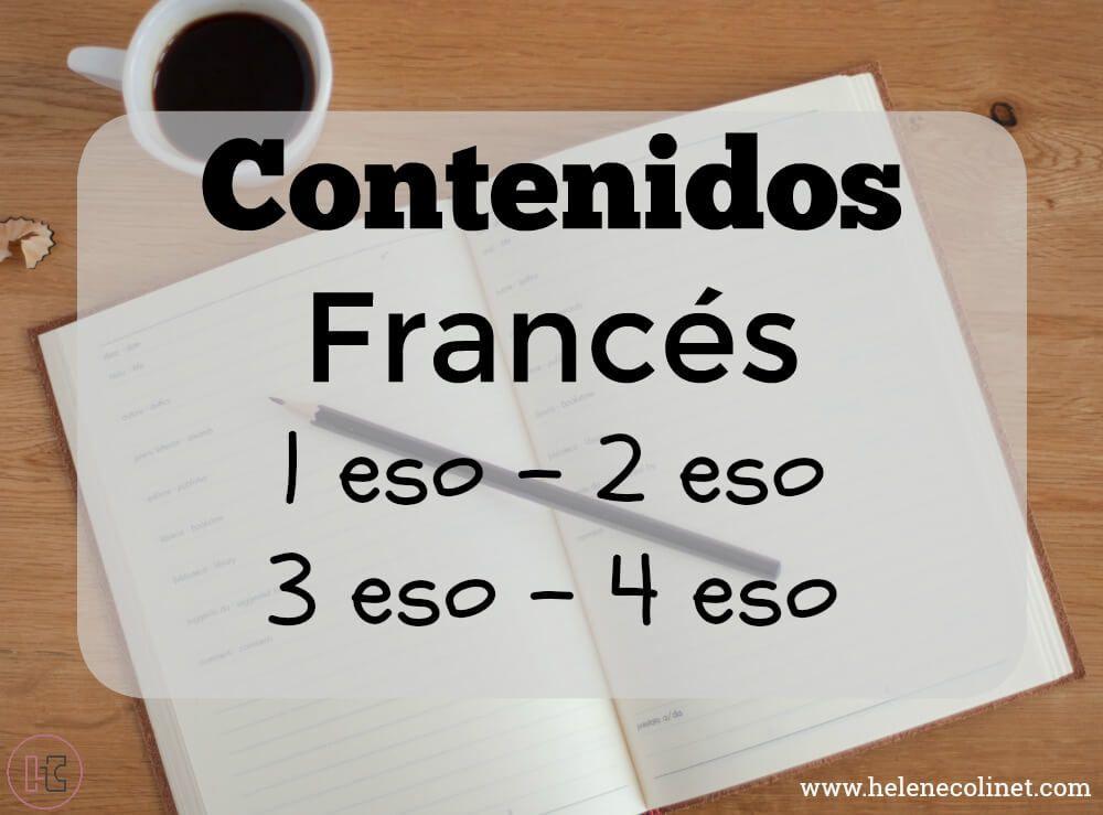 contenidos frances 1 eso 2 eso 3 eso 4 eso helene colinet tprs ci recursos profesores idiomas