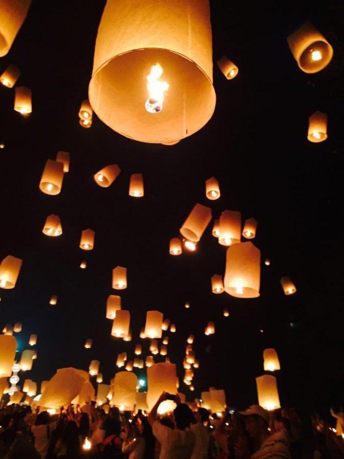 Lantern Release Yee Peng Lantern Festival in Chiang Mai