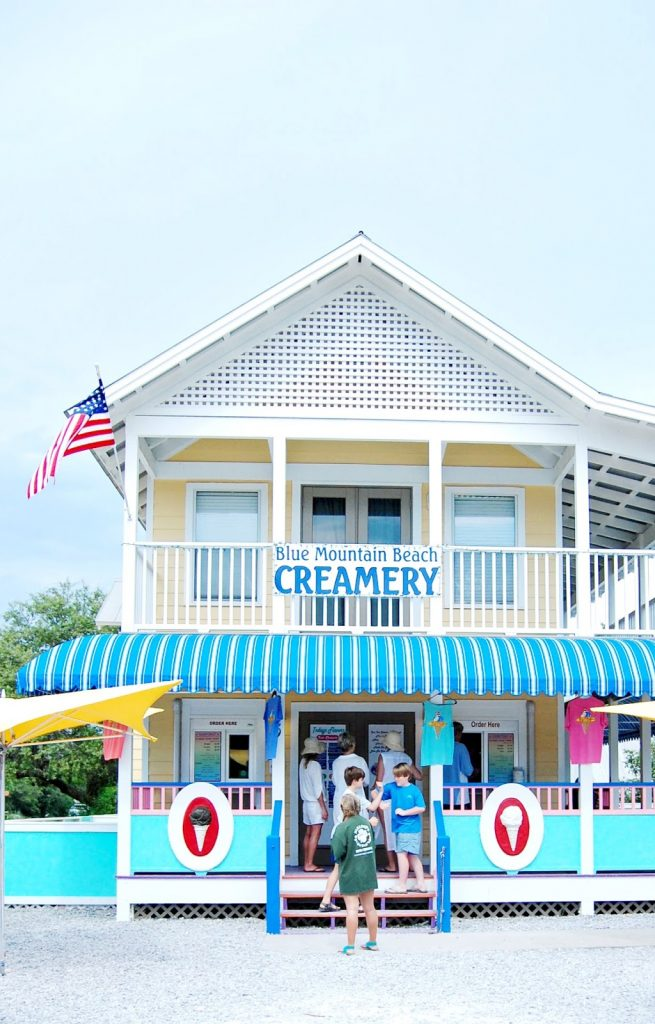 Blue Mountain Beach Creamery on 30A