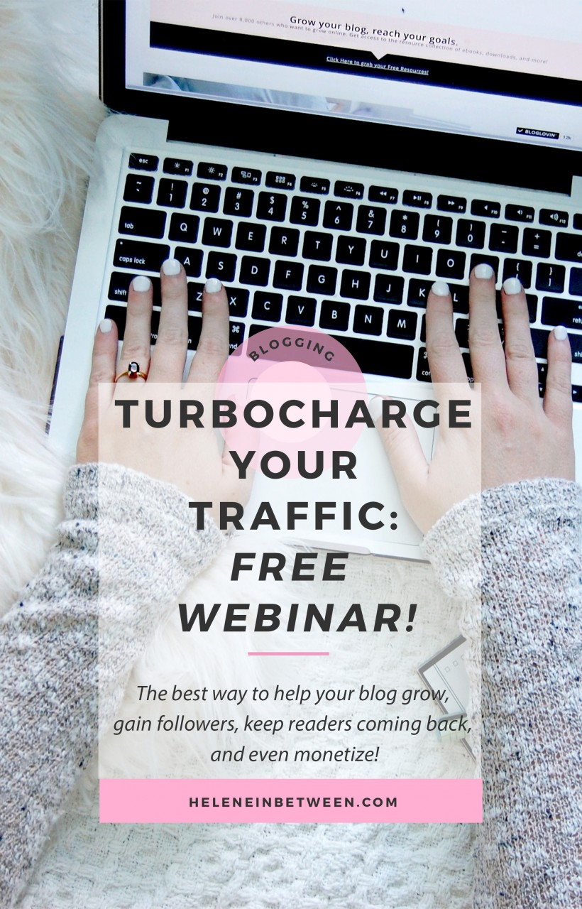 Turbocharge Your Traffic: a free webinar! What is the ONE thing you need to grow your blog? Traffic! Learn to gain followers, keep readers coming back for more, and monetize your blog, by gaining traffic. This webinar will show you how!