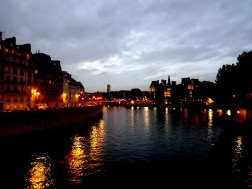 What is beautiful during the day gains an allure at night that is incomparable. This photo I snapped as we meandered home, walking over a bridge in Paris, reminds me just how romantic the whole experience I had was.