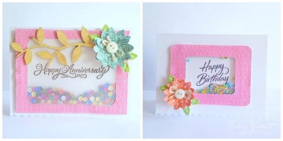 DIY Shaker Card & Paper Embossed Flowers by Helen Gullett   http://helengullett.com/?p=4789 #diy #handmadecards #closetomyheart #ctmh #wermemorykeepers
