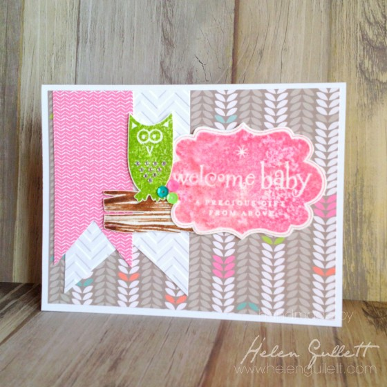 Baby Owl Card by Helen Gullett | http://helengullett.com/?p=4889 #closetomyheart #handmadecard #ctmh #watercolor