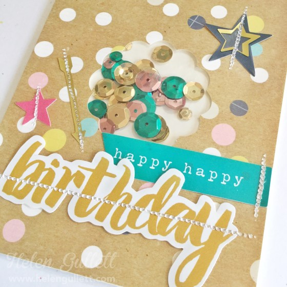 FUSEables Shaker Cards | Helen Gullett | www.helengullett.com | #FUSEables #wrmk #wermemorykeepers #handmadecard #shakercard #cardmaking #creatingjoyfully