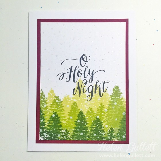 O Holy Night - OCC Holiday Style | by Helen Gullett #ctmh #onlinecard lasses #holidaystyle #christmascard #handmadecard #cardmaking #stamping