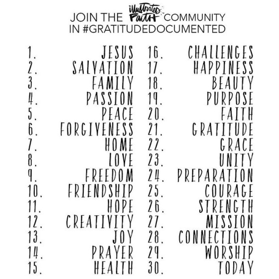 Illustrated Faith Community in #GratitudeDocumented http://www.illustratedfaith.com