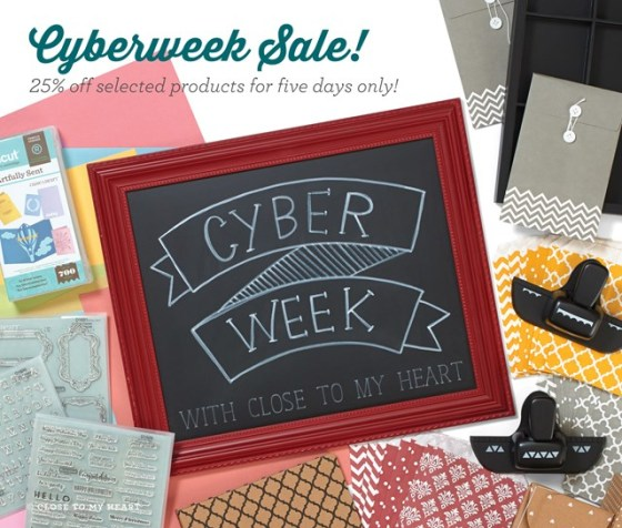 Close To My Heart Cyber Week 2015 | Save 25% on selected items at my CTMH Store --> www.creatingjoyfully.ctmh.com | Check the list of items on my blog --> http://wp.me/p1DmW0-24j | #ctmhcyberweek #cybermonday #craftingsupplies #papercrafting #scrapbooking #cardmaking #cricut #diecutting #diy #savemoneyoncraftingsupplies