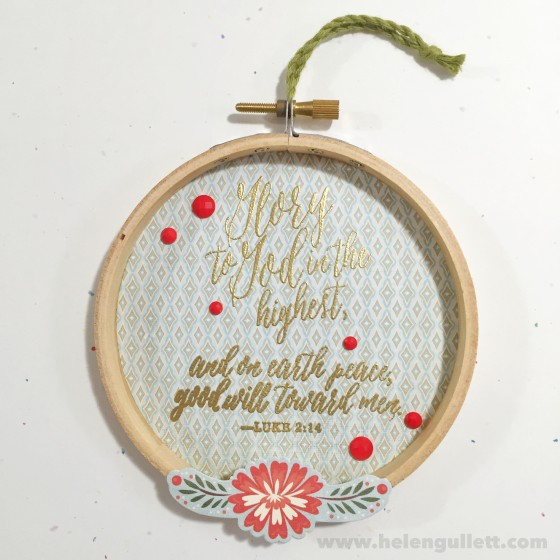 Glory To God | DIY Mini Christmas Embroidery Hoop Art #ctmh #ctmhwhitepines #whitepines #diy #handmade #embroideryhoopart #papercrafting #christmas #ornament #homedecor #giftidea #creatingjoyfully