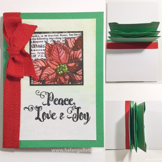 Giftcard Holder with 3 pockets | Handmade by Helen Gullett #stamplorations #wrmk #wermemorykeepers #ctmh #envelopepunchboard #christmascard #giftcardholder #papercrafting #diy #giftidea #watercoloring #sakurakoiwatercolors