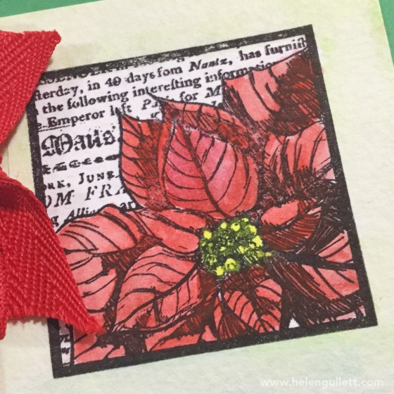 Watercolored Poinsettia | Giftcard Holder with 3 pockets | Handmade by Helen Gullett #stamplorations #wrmk #wermemorykeepers #ctmh #envelopepunchboard #christmascard #giftcardholder #handmadecard #cardmaking #papercrafting #diy #giftidea #watercoloring #sakurakoiwatercolors