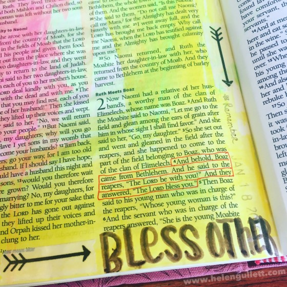 Let's bless other not only with words, but with our faith knowing that God really be with them and bless them. #HelloMornings #TakeRefuge #BibleJournaling #BibleArtJournaling #JournalingBibleCommunity #DocumentedFaith