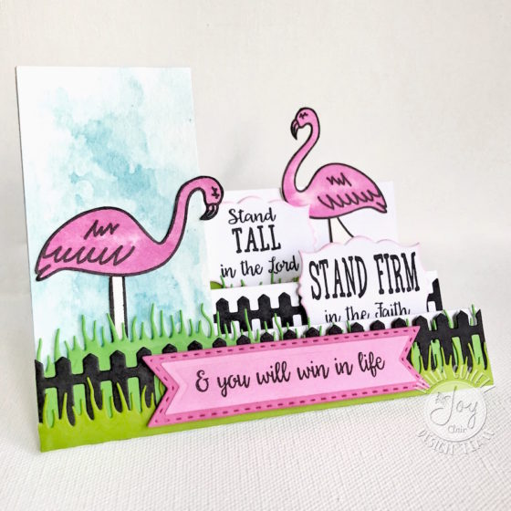 Joy Clair Be A Flamingo Side Step Card